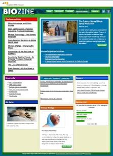 BioZine front page